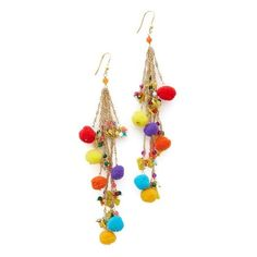 Rosantica Cancun Earrings (3.056.710 IDR) ❤ liked on Polyvore featuring jewelry, earrings, multi, earring jewelry, tri color earrings, multi color jewelry, colorful earrings and brass jewelry