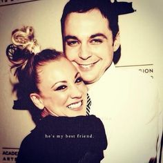 The Big Bang Theory - Penny & Sheldon.    This is a cute photo.  :)