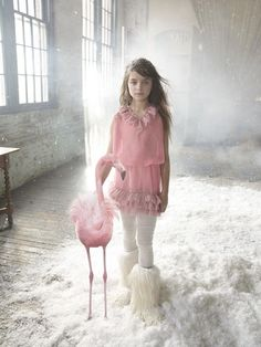 After bringing the snow inside for her recent photoshoot, Quinoa asked for a flamingo as well.