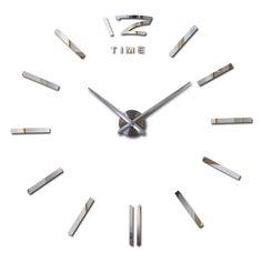 2017 new clock clocks horloge watch Acrylic mirror Wall Stickers real Quartz Living Room Modern 3D DIY Bell