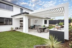 OUTDOOR LIVING / ALFRESCO -  Synergy Premier Twin with Edge 2 Facade on display at Oran Park Custom Home Designs, Custom Homes, New Home Builders, Outdoor Living, Outdoor Decor, Investment Property, Facade, Twin, New Homes
