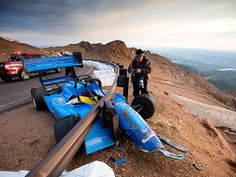 The Annual Broadmoor Pikes Peak Hill Climb is full-swing, and that means the mountain has begun to find some of its victims this year. Check out what happened to Spencer Steele. Hill Climb Racing, Pikes Peak, Race Cars, Pictures, Mountain, Funny, Check, Autos, Drag Race Cars