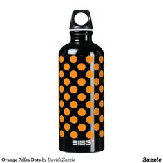 Orange Polka Dots Water Bottle This design is available on many products! Click the link and hit the 'Available On' tab near the product description to see them all! Thanks for looking!  @zazzle #art #design #polka #dots #water #bottle #drink #sport #athletic #color #circles #shop #gift #buy #sale #men #women #kids #black #white #red #yellow #blue #orange #green #purple #pink #aqua #fun #sweet #cool #awesome