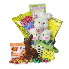 Make someones Easter day extra special with this basket of traditional childhood sweet treats