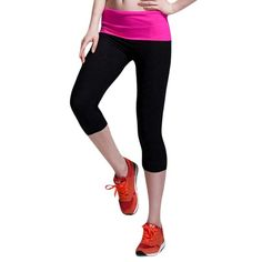 e3af369f3493a Calf-Length Casual Fitness Jogger Pants Workout Leggings