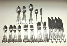 Vintage INSPIRATION 1933 Silver Flatware Set by Rogers & Bro. - 52 Pc.