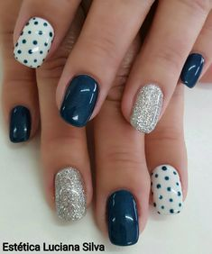 Magic of black color beckons with the beauty of its depth and mystery. Black manicure is not the first season relevant among modern f… in 2020 Fancy Nails, Pink Nails, Pretty Nails, My Nails, Leopard Nails, Navy Blue Nails, Blue Nails Art, Navy Nail Art, Blue Toe Nails