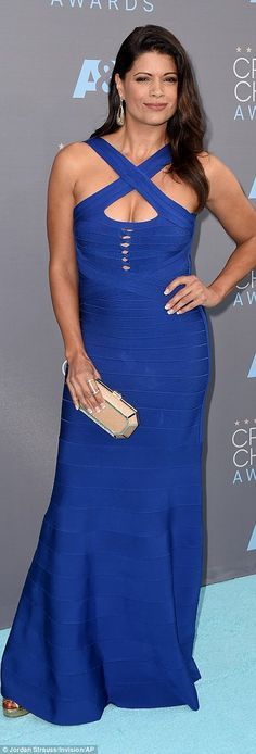 Andrea Navedo mixed up a perfectly good look with bandage holes over her bust...