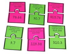 Use this rounding decimals resource to help your intermediate students practice math. Round decimals to the nearest tenth and hundredth with this hands on math station. Teaching 5th Grade, 5th Grade Classroom, Elementary Teaching, 5th Grade Math, Upper Elementary, Teaching Math, Elementary Schools, Teaching Resources, Math Stations