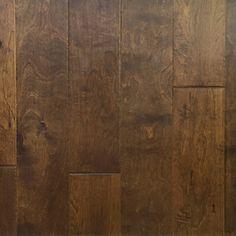 Artisan hand carved engineered hardwood flooring.