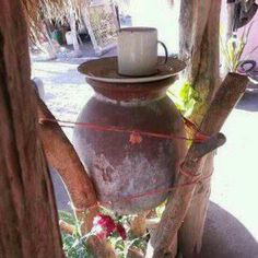 Tinajas , to keep water fresh ....