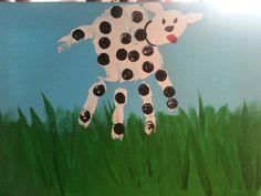 """""""Dalmatian"""", handprint painting class"""