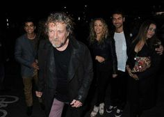 Robert Plant and family from left: son Jesse, daughter Carmen Jane and son Logan with his wife.