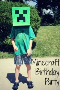 Minecraft Birthday Party Ideas - The Little Things Journal Birthday Board, 10th Birthday, Birthday Parties, Diy Minecraft Birthday Party, Puppy Party, Perfect Party, Best Part Of Me, Crafts For Kids, Birthdays