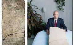"""Archeologia - La stele delle profezie dell'Arcangelo Gabriele Tra i vari ritrovamenti vicino al Mar morto è stata trovata una stele di pietra che descrive antiche profezie del """"servo sofferente"""" includendo la sua morte e risurrezione dopo tre giorni. Anche se è #profezia #stele #arcangelogabriele"""