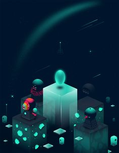 Deimos on Behance Web Design, Game Design, Graphic Design, Isometric Art, Isometric Design, Illustrations And Posters, Animation, Motion Design, Game Art