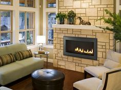 Let the Fireplace Experts at Fireside Hearth & Home help you choose your own Heatilator Rave Series Gas Fireplace. Floating Fireplace, Gas Fireplace, Fireplaces, Fireplace Ideas, Modern Landscaping, Sitting Area, Travertine, Hearth, Sweet Home