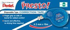 Pentel Presto Correction Tape