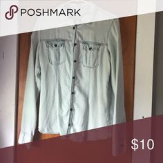 Maurice's Chambray Button Up Worn only once! Very soft material! Maurices Tops Button Down Shirts