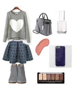 """Gray navy"" by arutila on Polyvore featuring Rumour London, rag & bone, Michael Kors, NYX and Essie"
