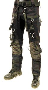 SDL Mens Heavy Cotton Black Cyber Gothic Industrial Trousers | eBay  43.45