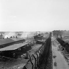 THE LIBERATION OF BERGEN-BELSEN CONCENTRATION CAMP, APRIL 1945  Overview of Camp No 1, now substantially evacuated, taken from a watch tower used by the German guards.