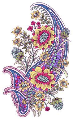 Grab Shutterstock Photo Without Watermark Paisley Wallpaper, Paisley Art, Paisley Fabric, Paisley Design, Paisley Pattern, Textile Pattern Design, Textile Patterns, Textile Prints, Pattern Art