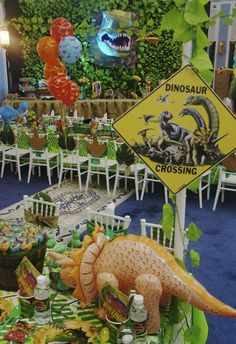Dinosaurs Birthday Party Ideas | Photo 23 of 90 | Catch My Party