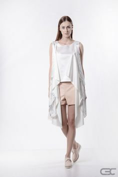Cream Tops, Ss 15, Summer Collection, Vests, Identity, Casual Outfits, Layers, Metallic, Spring Summer