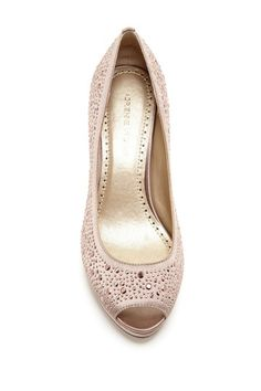 Adrienne Vittadini Pippi Embellished Peep Toe Pump