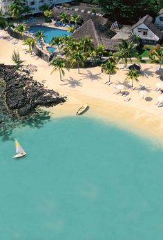 Capture the aerial of Merville beach--A best bet for a tropical vacation that won't break the bank. #Mauritius