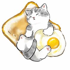 Kitten Drawing, Cute Cat Drawing, Cute Animal Drawings, Kawaii Drawings, Cute Drawings, Cute Little Animals, Baby Animals, Cat Icon, Cat Aesthetic
