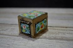 Cloisonne Stamp Box by momentofnostalgia on Etsy