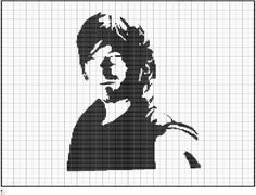 Crochet Darryl Dixon Chart, The Walking Dead, Darryl Dixon Graph Pattern, PDF Digital Files by FADesignCharts on Etsy