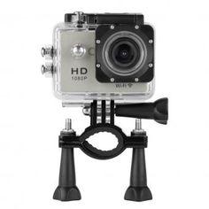 Y8 Cámara de Deporte Waterproof 1080p HD Sports Camera US Plug-Plateado