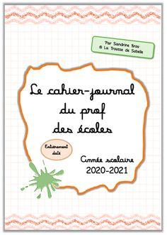 Bullet Journal Scolaire, Bullet Journal 2020, Teacher Planner, Back To School Gifts, Notebook, Classroom, Writing, Organiser, Blog
