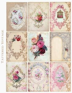Antique Tags ATC Instant Download no188 Antique by tatteredvintage,