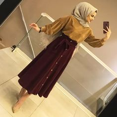Elbise dress moda hijab tesettr stil fashion giyim kyafet etek estee audra modelleri products and prices butikgez Simple Hijab, Hijab Casual, Hijab Chic, Hijab Outfit, Hijab Dress, Dress Skirt, Muslim Fashion, Modest Fashion, Hijab Fashion