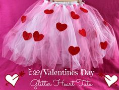 How adorable is this Valentine's Day glitter heart tutu! My youngest daughter would love it!