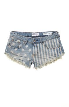 Discharge Flag Shorts #faded #frayed