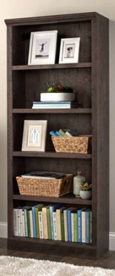 Better Homes And Gardens Crossmill 5 Shelf Bookcase, Heritage Walnut
