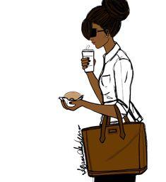 Monday Coffee & Donut #Work - Tiffani Anderson Illustration