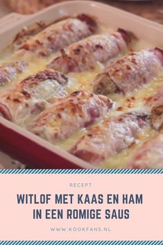 Recipe: Chicory with cheese and ham in a creamy sauce - Delicious: chicory with a béchamel sauce - Vegan Recipe Box, Vegan Recipes, Cooking Recipes, Baby Food Recipes, Dessert Recipes, Oven Dishes, Side Dishes, Deli Food, Creamy Sauce