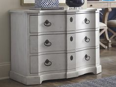 Artisanl Hall Chest by Bassett Furniture. Inspired from vintage pieces of British Campaign furniture and royal French style