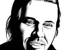 David Foster Wallace, 2003, by Charles Burns