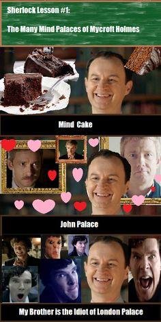 Sherlock Lesson Number 1 : The Many Mind Palaces of Mycroft Holmes <3 John palace hahaha