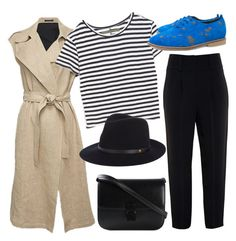 """Get your weekend stripes on"" by mo-saique ❤ liked on Polyvore featuring Givenchy, Theory, Enza Costa, CÉLINE, rag & bone, Spring, stripes, Oxfords, weekend and hat"