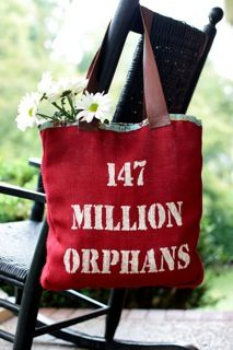 I have this bag and carry it in hopes of spreading awareness of the orphan crisis around the world