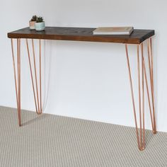 A personal favourite from my Etsy shop https://www.etsy.com/uk/listing/524999659/francis-console-table-hairpin-legs