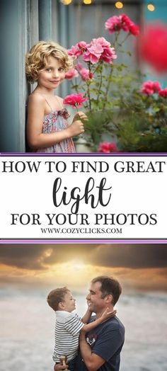 Looking for photography tips on how to get great light for your photos? Learn three really easy things you can do to get flattering light in your portraits right here! Photography Basics, Photography Tips For Beginners, Photography Lessons, Photography Backdrops, Professional Photography, Photography Tutorials, Light Photography, Creative Photography, Digital Photography